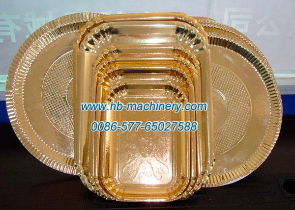 特大方形纸碟纸盘, 金色纸碟纸盘,